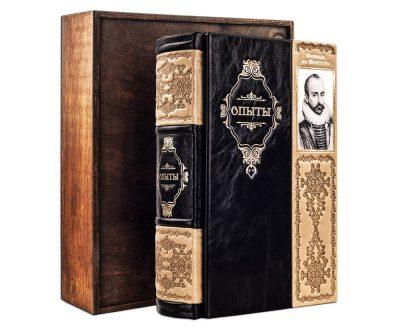 Подарочная книга в кожаном переплете «Опыты» Мишель де Монтень