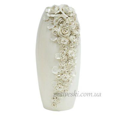 Керамическая ваза «Патио» белая