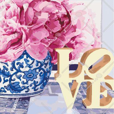 Картина по номерам «Love» ТМ «Идейка» (в коробке)