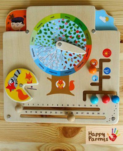 Бизиборд «Календарь природы»