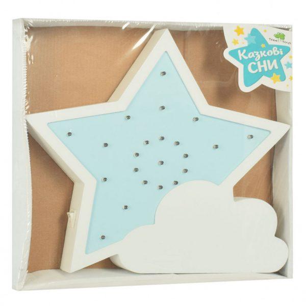 Детский ночник из дерева «Звезда»