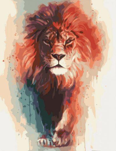 Картина по номерам «Король саванны»