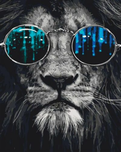 Картина по номерам «Лев»