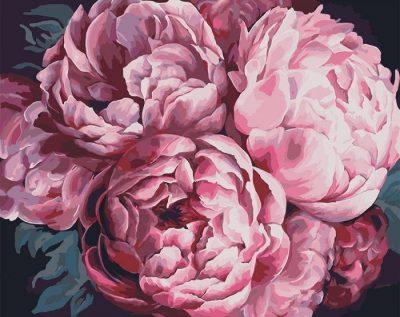 Картина по номерам «Вдохновляющий аромат пионов»