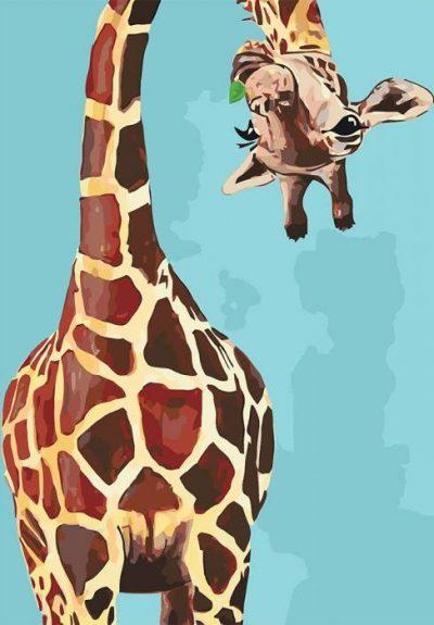 Картина по номерам «Жирафик»