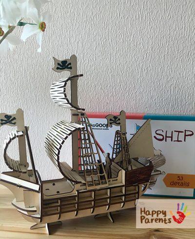Деревянные 3d пазлы «Корабль»
