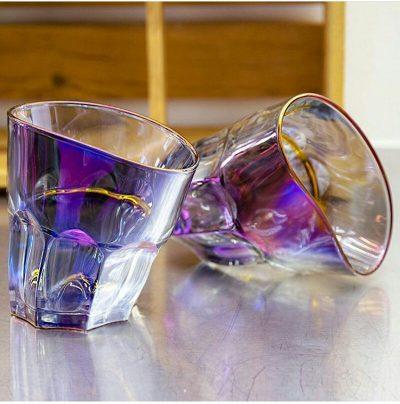 Набор пьяных стаканов для виски голографические Nisha Decor