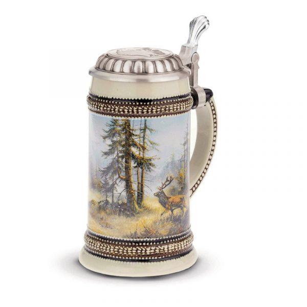 Пивной бокал с крышкой «Олень» SKS Artina