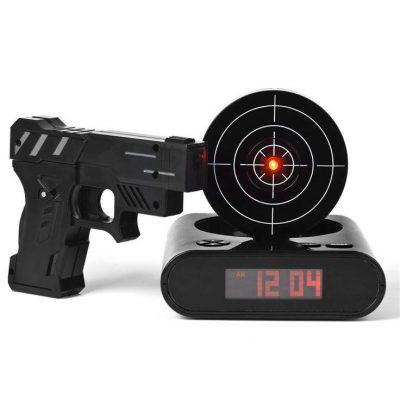 Будильник с мишенью и пистолетом Gun Alarm Clock