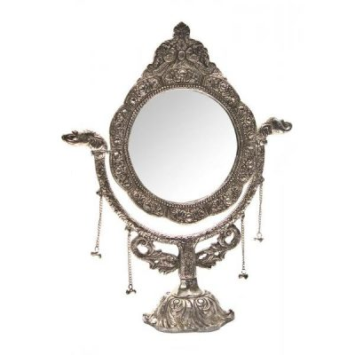 Настольное зеркало «Серебро» в красивой оправе