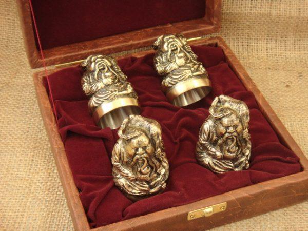 Чарки из бронзы в кейсе «Казаки»