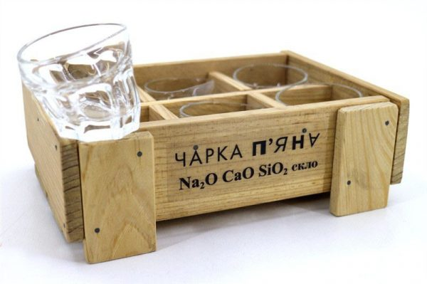 Набор пьяных стаканов «Чарка гранена п'яна» Nisha Decor