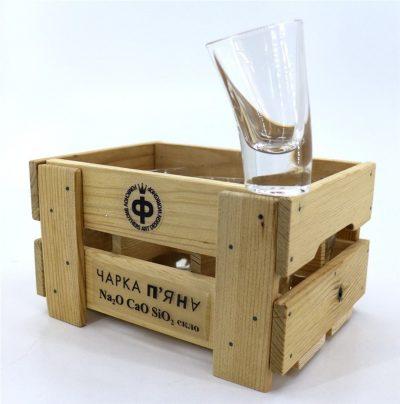 Набор пьяных стаканов «Чарка висока п'яна» Nisha Decor