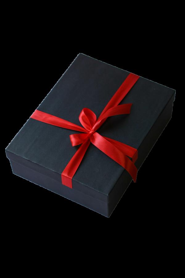 Подарочная коробка «Black» с бантом