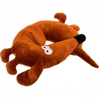 Подушка-подголовник декоративная «Собака Шоколад»