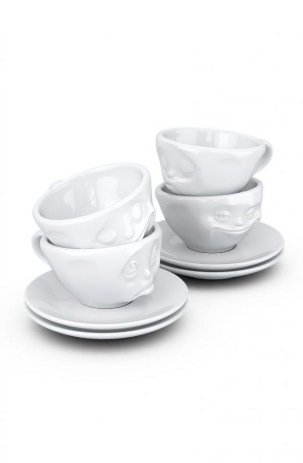 Набор из 4 чашек для эспрессо с блюдцами