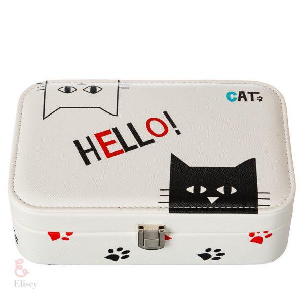 Шкатулка для украшений «Hello cat»