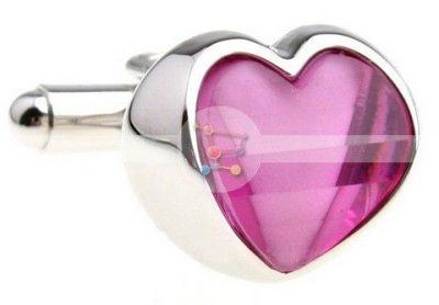 Оригинальные женские запонки «Сердце»