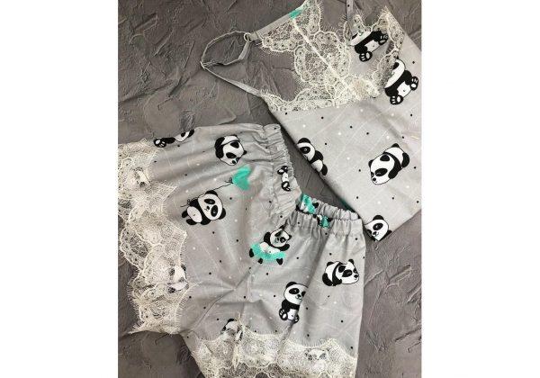 Пижама «Панды» шорты и майка