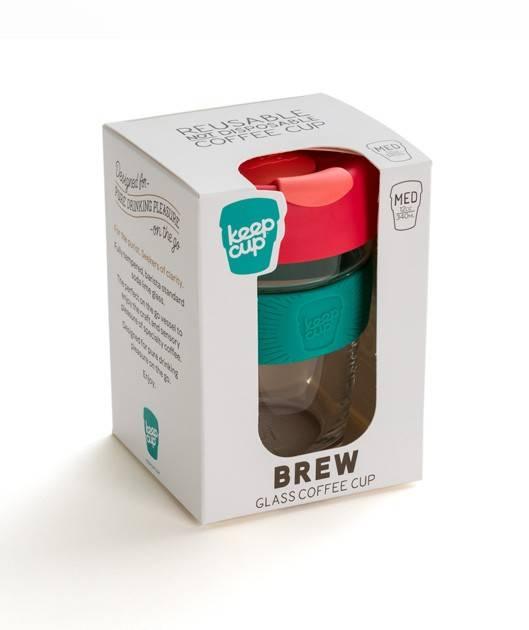 Термокружка KeepCup «Medium Brew Fennel LongPlay» с двойным стеклом