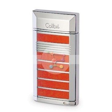 Зажигалка Colibri «EVOKE»с отделкой красного цвета