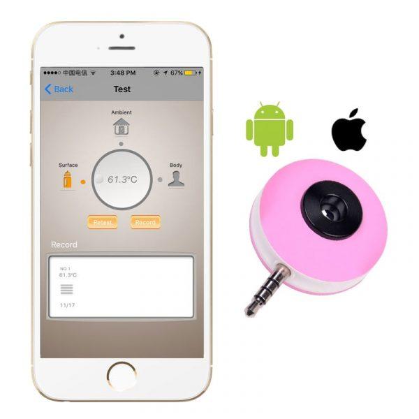 Бесконтактный мобильный термометр для телефона Android, iOS в 3.5 мм