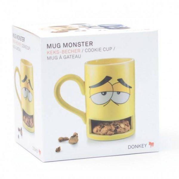 Чашка с отделением для печенья Donkey «Monster Cookie Cup» (желтая)