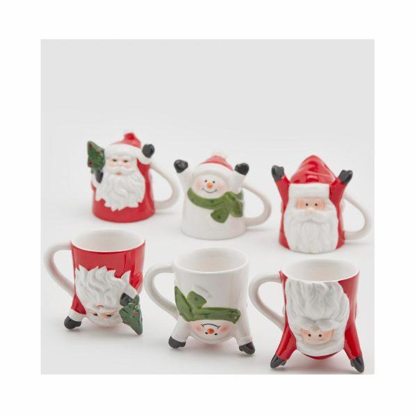 EDG Чашка керамическая Статуэтка Дед Мороз/Снеговик а3 В7