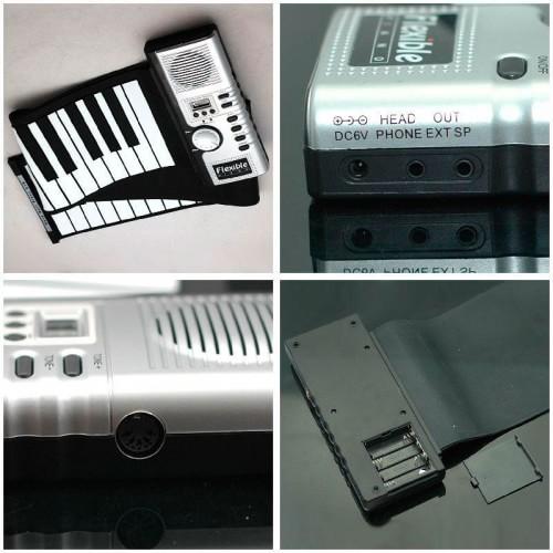 Раскладное гибкое пианино на батарейках