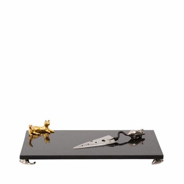 Доска и нож для сыра «Cat and mouse» Michael Aram