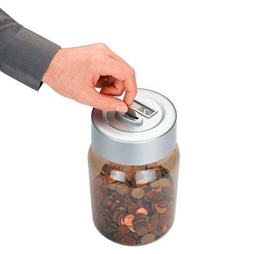 Электронная копилка для денег «MONEY JAR» со счетчиком монет