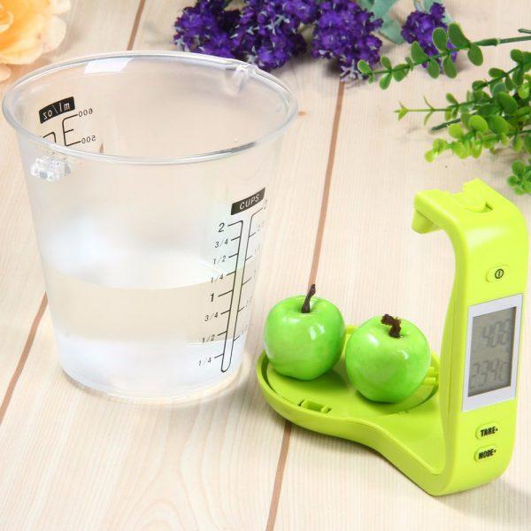 Электронный мерный стакан с весами для кухни