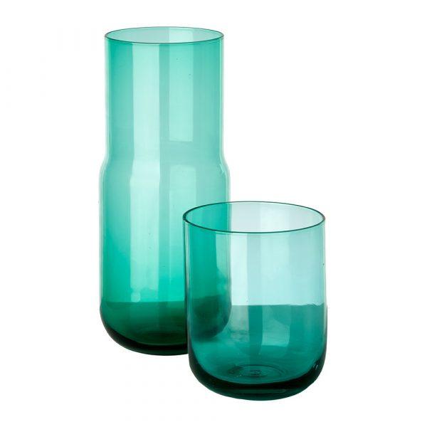 Графин стеклянный со стаканом-крышкой