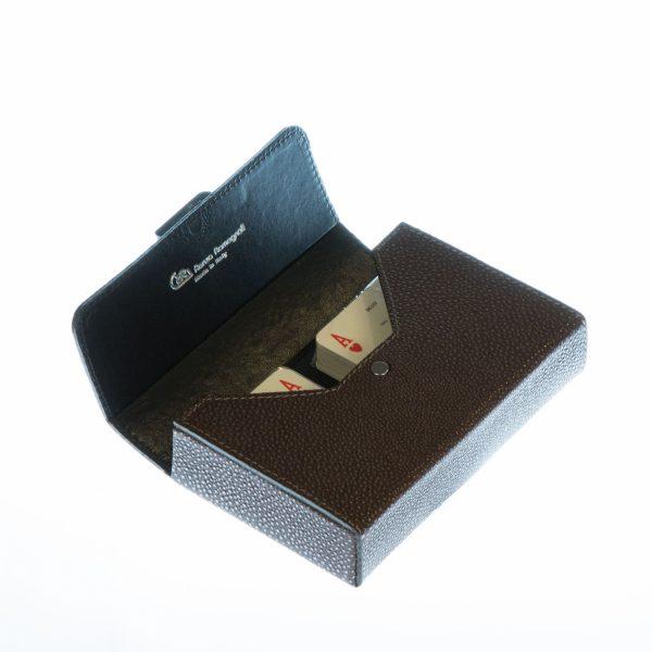 Игральные карты «Swarovski» Renzo Romagnoli (кожа коричневая)
