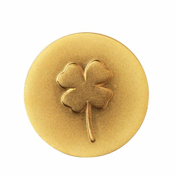 Карманный талисман «Золотой слиток Клевер» Raeder в сумочке