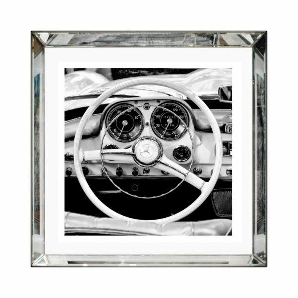 Картина с зеркальной рамой «Автомобиль»