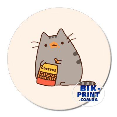 Коврик для мыши «Котейка кушает»