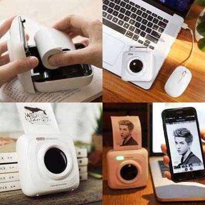 Мобильный минипринтер для печати фото и чеков с телефона Paperang P1