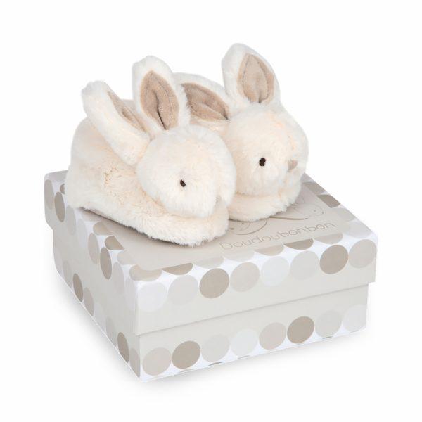 Мягкие тапочки «Зайки»Doudou Bonbon