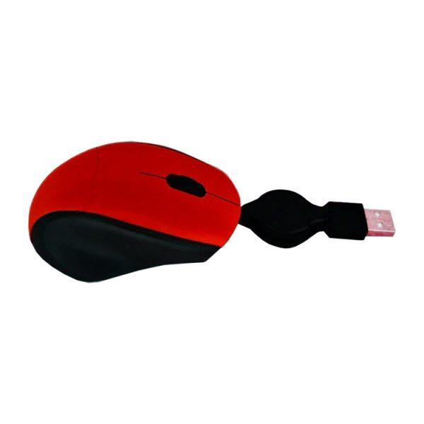 Мышь для ноутбука проводная с убирающимся проводом