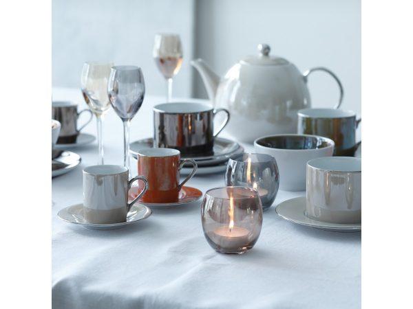 Набор чашек для кофе+блюдца «Polka» LSA металлик