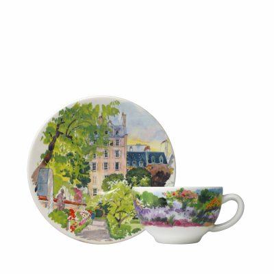 Набор чашка и блюдце Gien «Paris Giverny»
