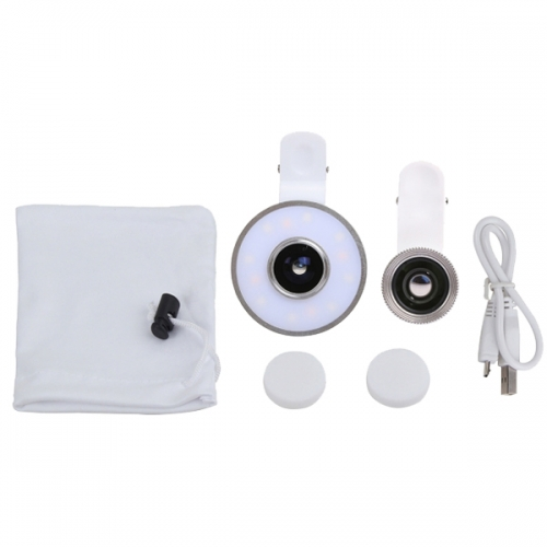 Набор линз для телефона с LED подсветкой для селфи 2 в 1