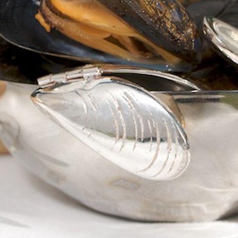 Набор приборов для поедания мидий Culinary Concepts «Море» посеребренный
