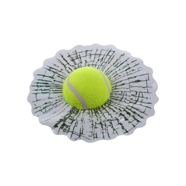 Автомобильная наклейка 3D «Теннисный мяч в стекле автомобиля»