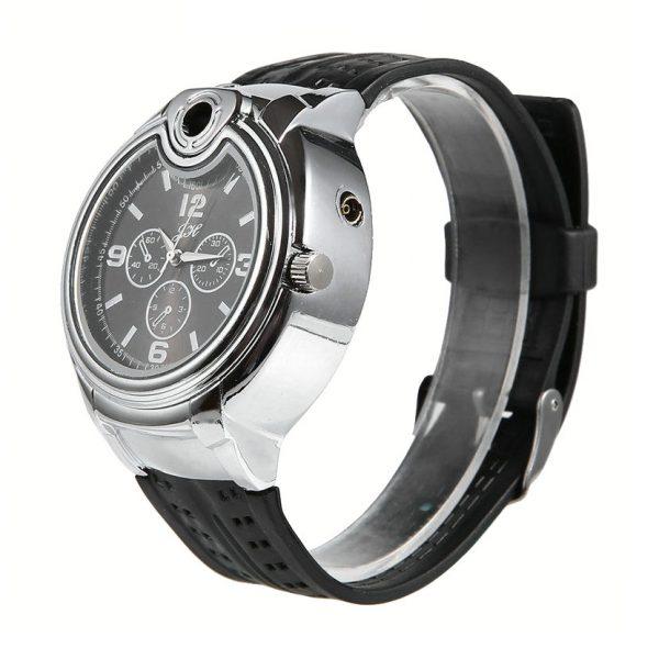 Наручные часы-зажигалка с силиконовым ремешком
