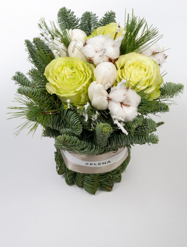 Новогодняя цветочная композиция «Визеу»