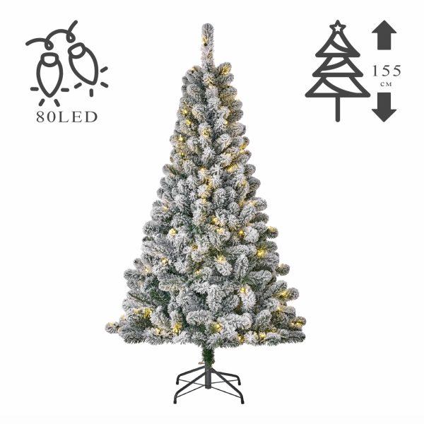 Новогодняя елка искусственная «Миллингтон» заснеженная с подсветкой 80LED