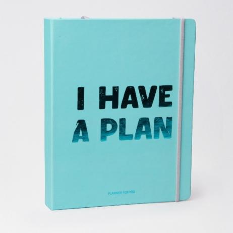 Планер I have a plan бирюзовый