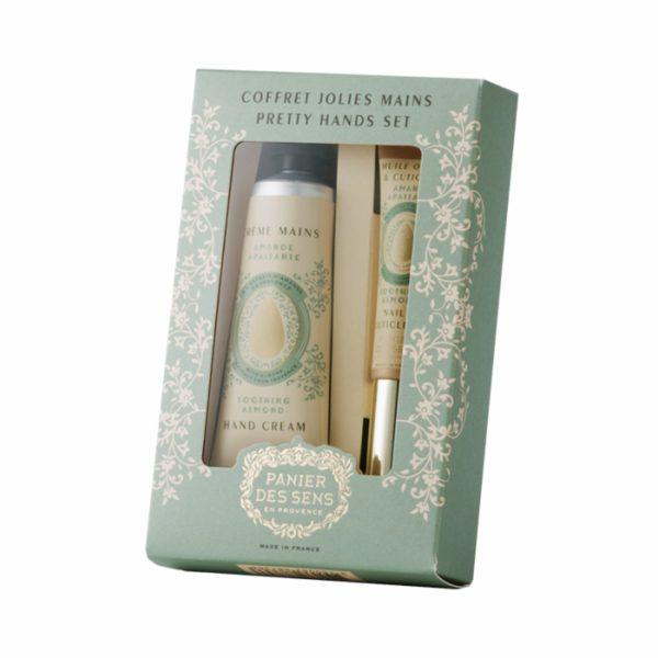 Подарочный набор Panier des Sens «Миндаль»: крем для рук и масло для кутикулы